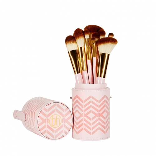 BH Cosmetics - Pink Perfection Brush Set - sada 10 štětců