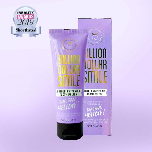 Billion Dollar Smile Purple Tooth Polish - fialová bělící zubní pasta